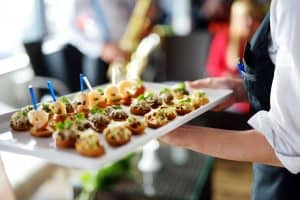 Gourmet food catering and service aboard luxury yacht Sirara